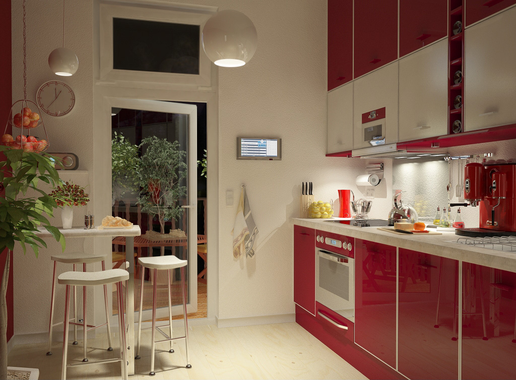 Modern style kitchen designs - Decoracion de cocina pequena ...