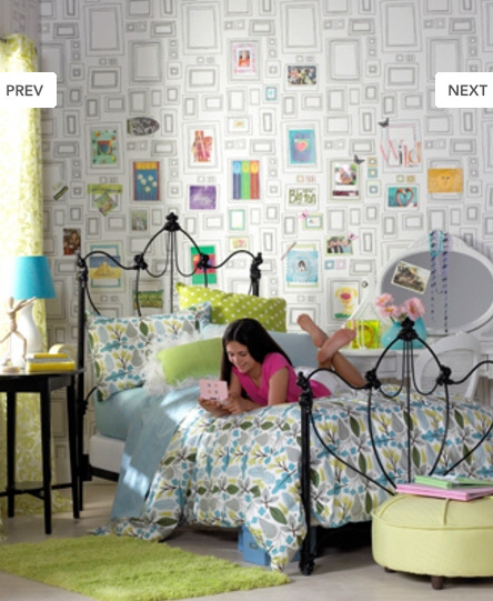 Retro modern wallpaper delight Wallpaper for teenage girl bedroom