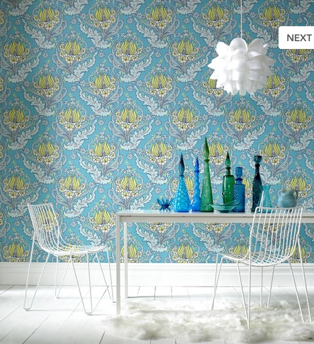 Modern Wallpaper on Retro Modern Wallpaper Delight