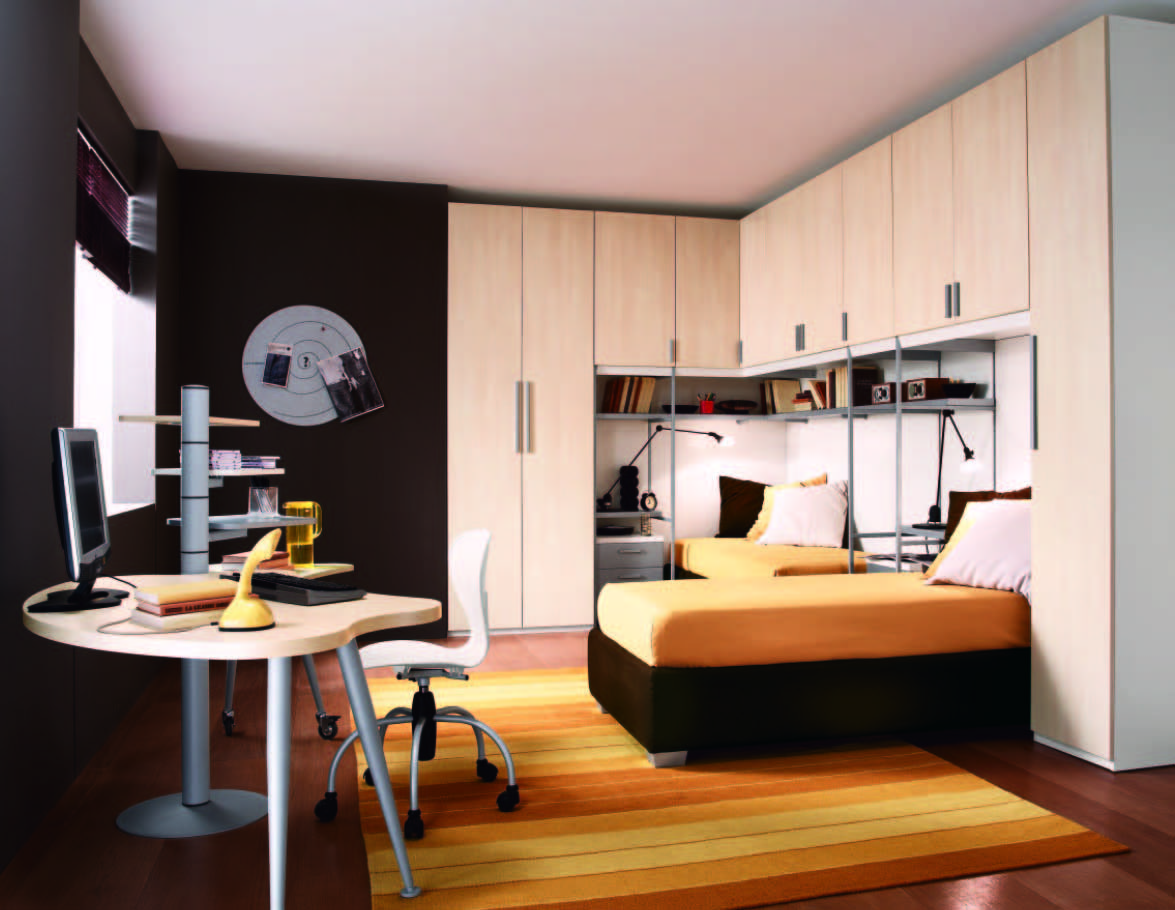 Fabulous modern themed rooms for boys and girls for Small double bedroom decorating ideas