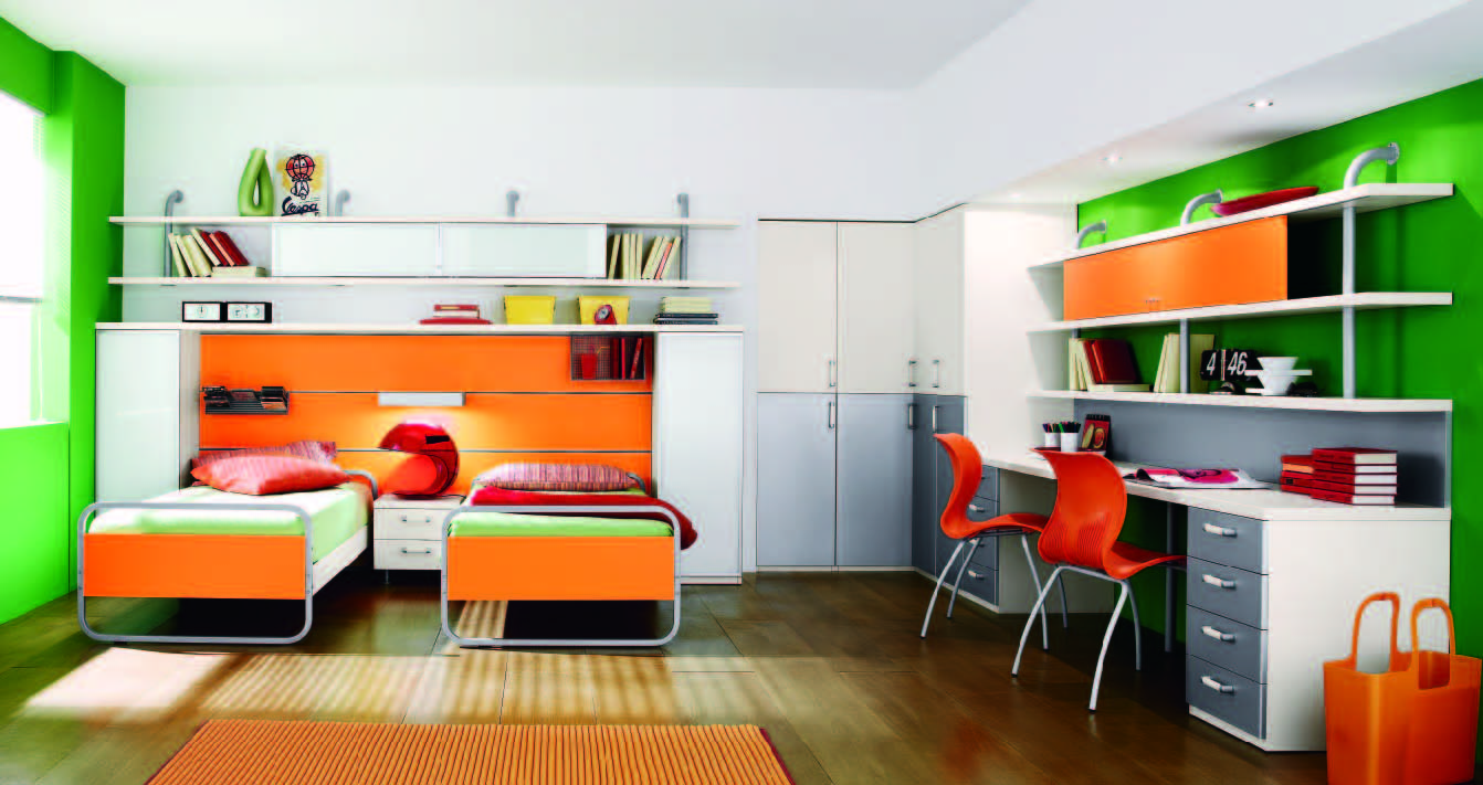 Fabulous modern themed rooms for boys and girls for Boy and girl bedroom designs