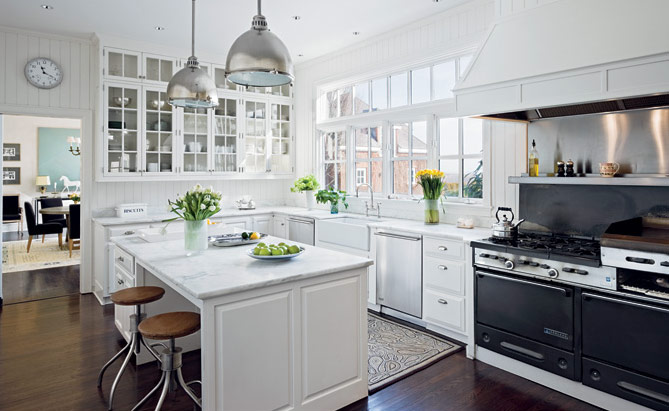 White kitchens for Modern country kitchen designs