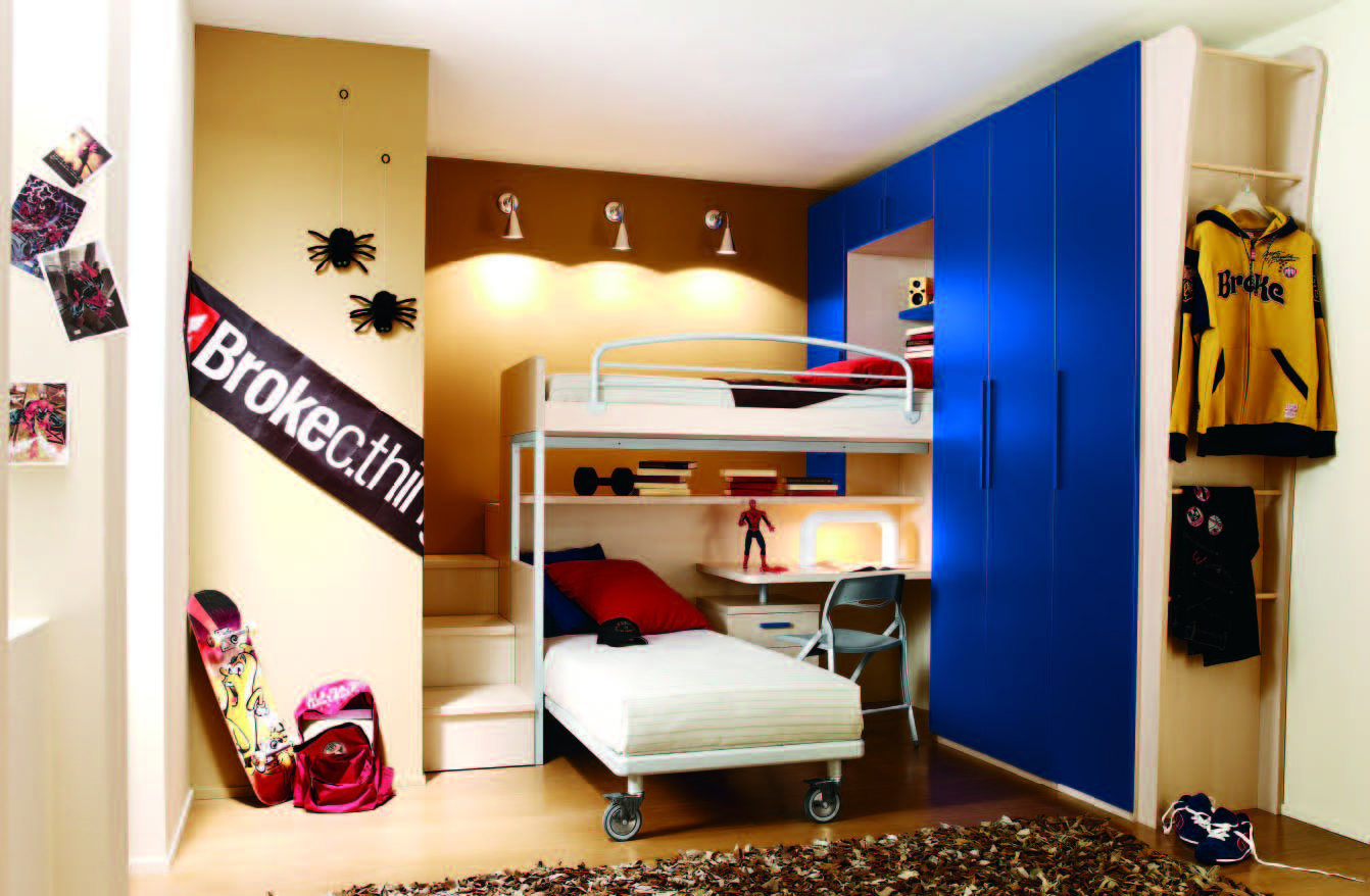 Beautiful Fabulous Modern Themed Rooms For Boys And Girls With Bunk Bed Designs Kids Room