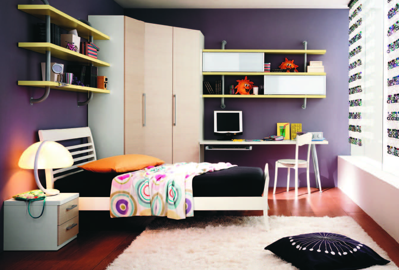 Fabulous modern themed rooms for boys and girls for Teenage small bedroom designs
