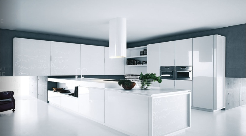 Modern Designer Kitchen Cabinets White Lacquer Kitchen Cabinets