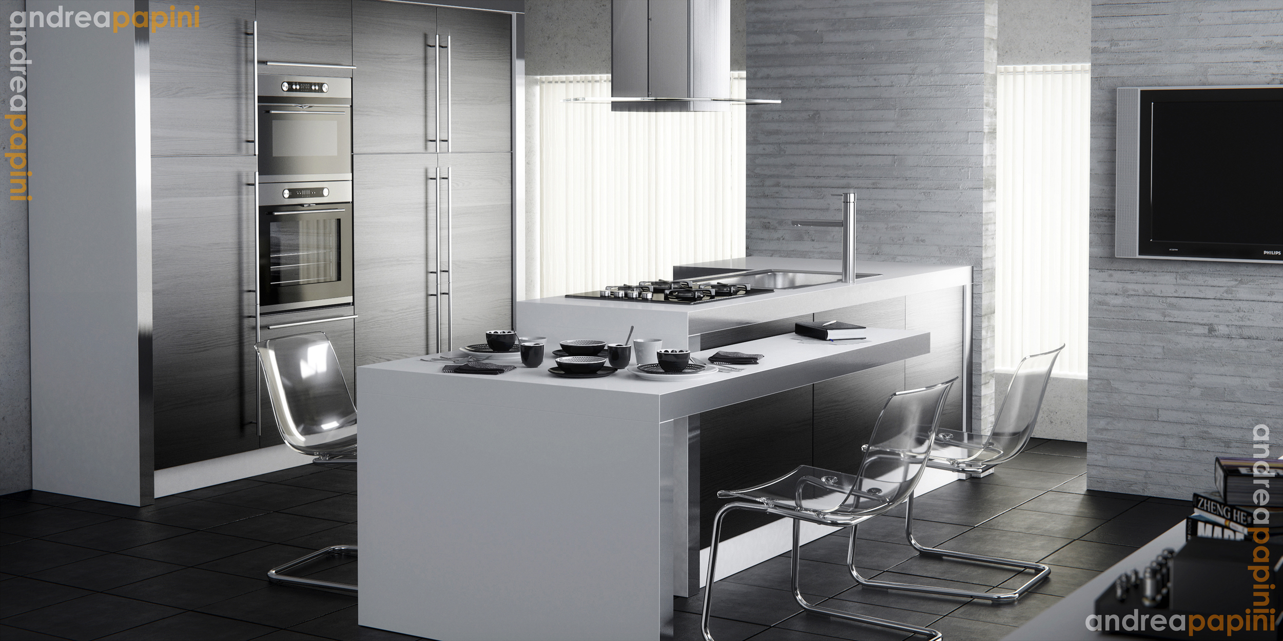 White kitchens for Modern kitchen plans