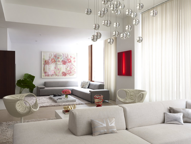Super stylish interior design for a flat for Decoracion living