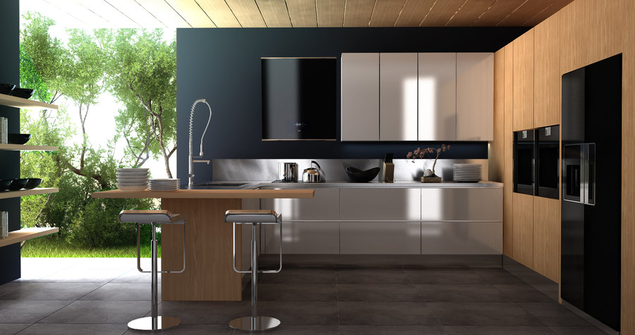 Kitchen Modern Black modern style kitchen designs