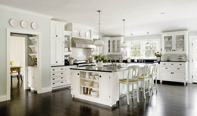 White kitchens for Kitchen tradition