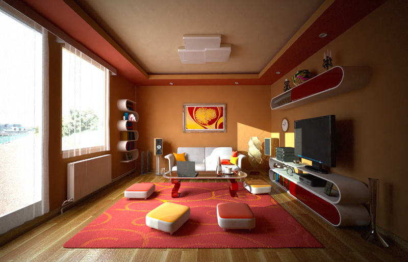 Black Color House Unusual Interior Warm Colored Room By 4Dragon84