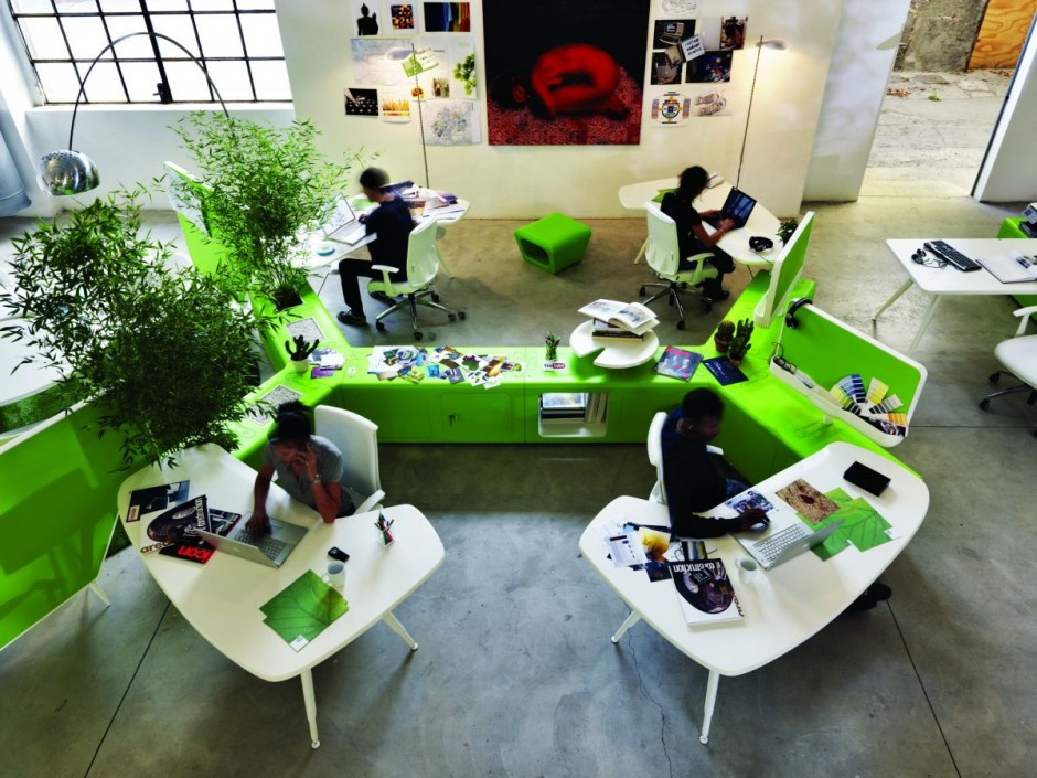 Red dot award winning workspace design Collaborative workspace design