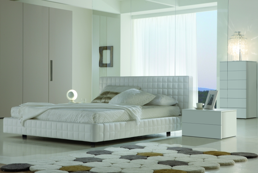 Bedroom decorating ideas from evinco for Bedroom designs white