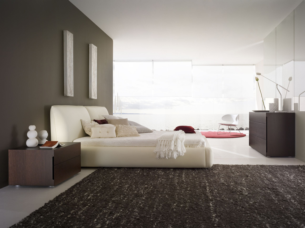 Bedroom decorating ideas from evinco Modern minimalist master bedroom