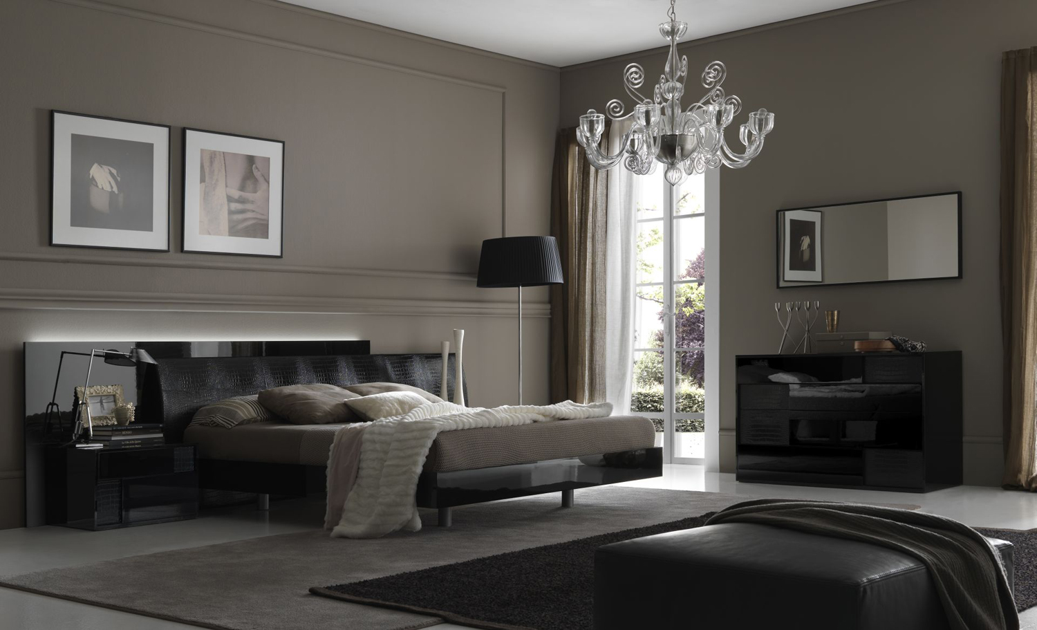 Bedroom decorating ideas from evinco for Modern bedroom