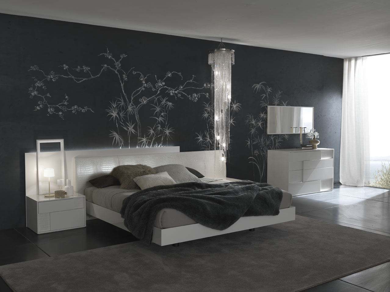Bedroom decorating ideas from evinco Room design site
