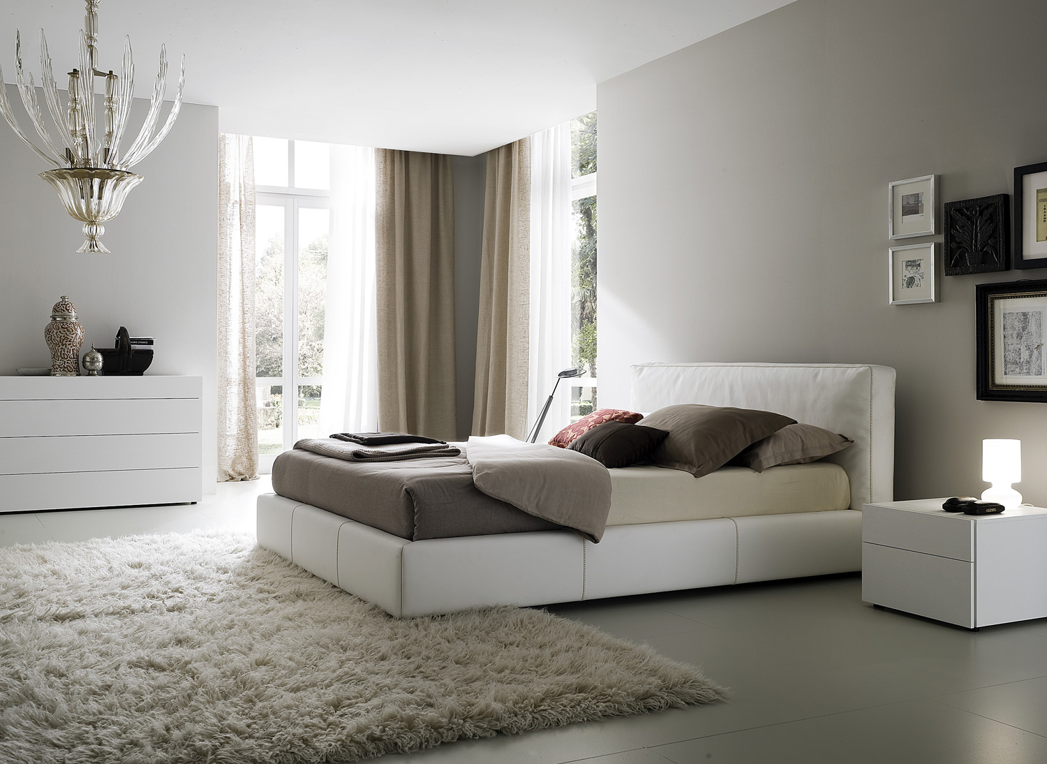 Modern White Bedroom bedroom decorating ideas from evinco