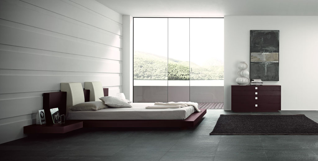 Bedroom decorating ideas from evinco for Simplistic bedroom ideas