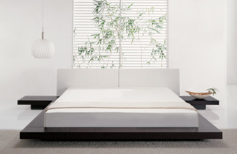 serene white bedroom - Designing Bed