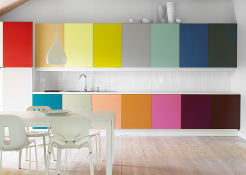 Rooms with a dash of color splash - Colours of kitchen cupboards ...