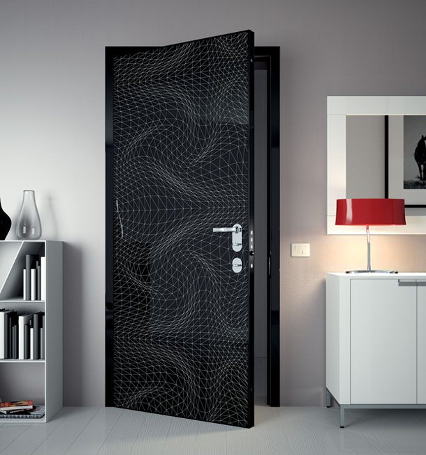 Karim rashid door prints for Take door designs