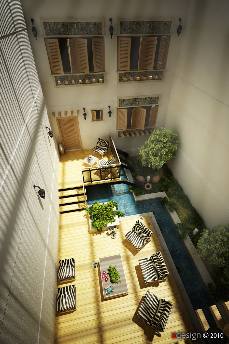 created by zorrodesign - Courtyard Design Ideas