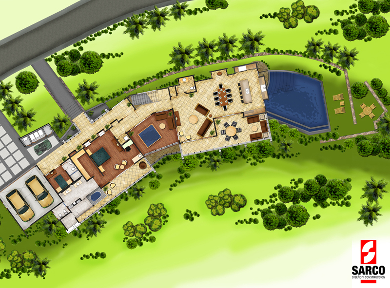 A massive vacation home in the jungles of costa rica for Costa rica house plans