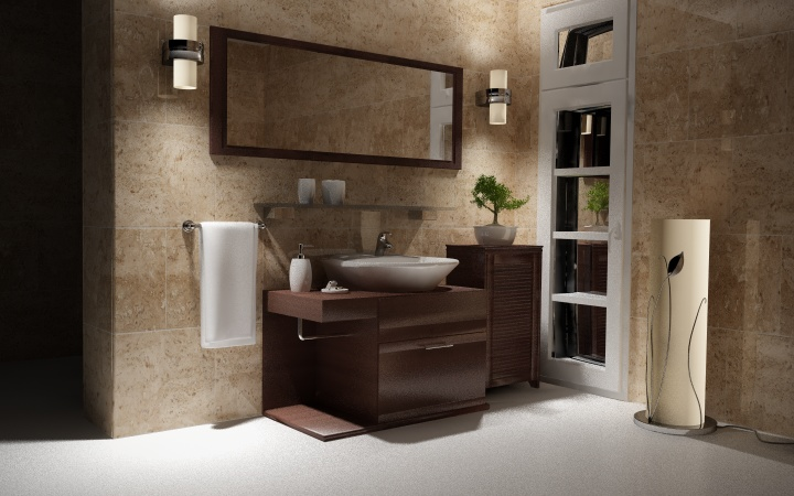 Baños Modernos Decoracion:Earth Tone Bathroom Designs