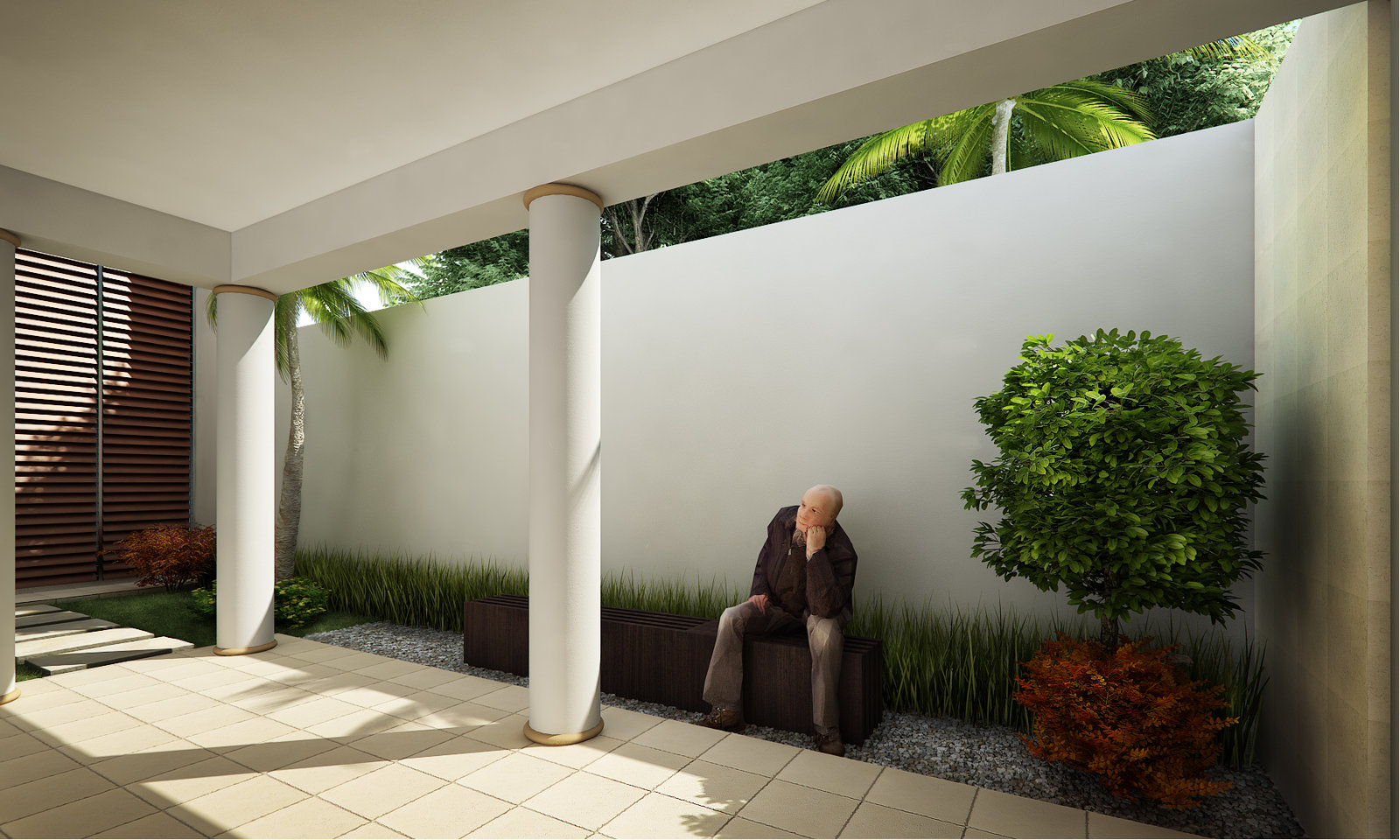 Courtyard design and landscaping ideas for Outdoor landscape plans