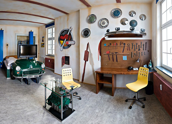 Pics of car themed home interiors