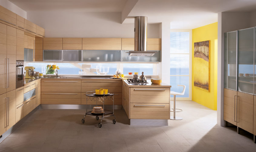 Rumah idaman modern style italian kitchens from scavolini for Kitchen accent wall