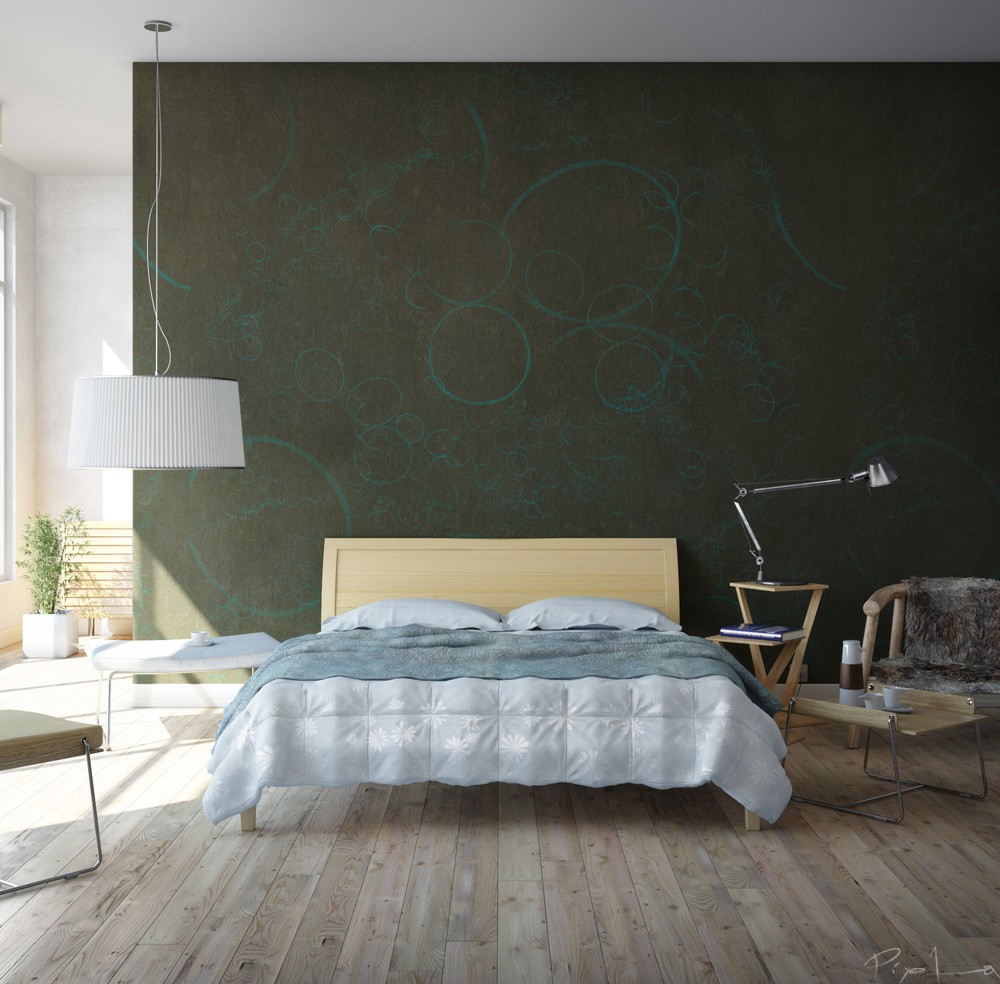 Dark Green Bedroom Walls with Designs 1000 x 984