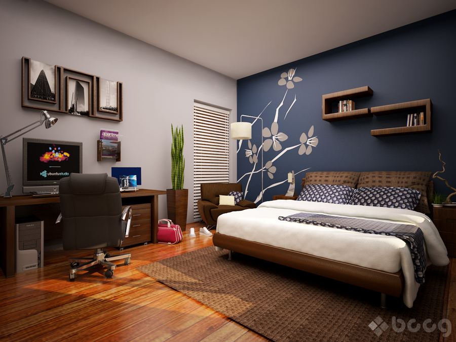 dark blue bedroom accent wall blog achados de decora o blue accent