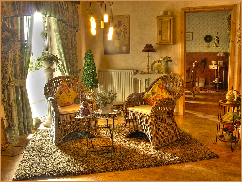 cottage style interiors wicker furniture