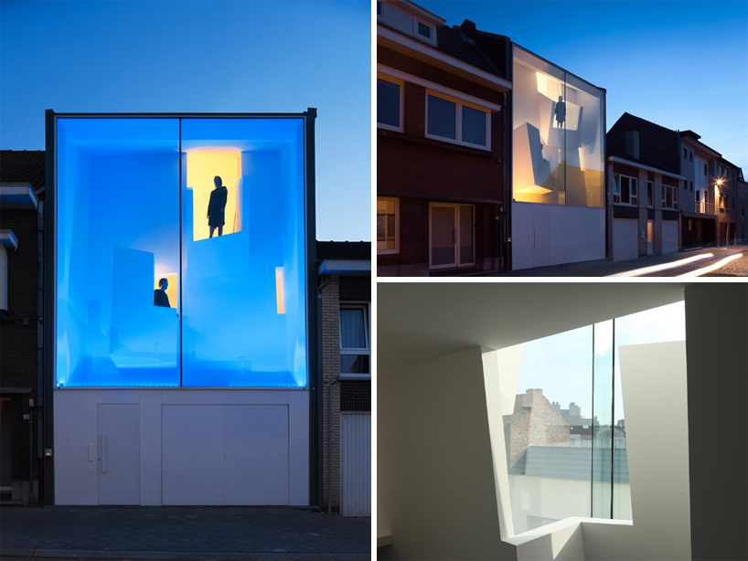 Narrow House Facade Glass Facade Reveals Architecturally Sculpted Home