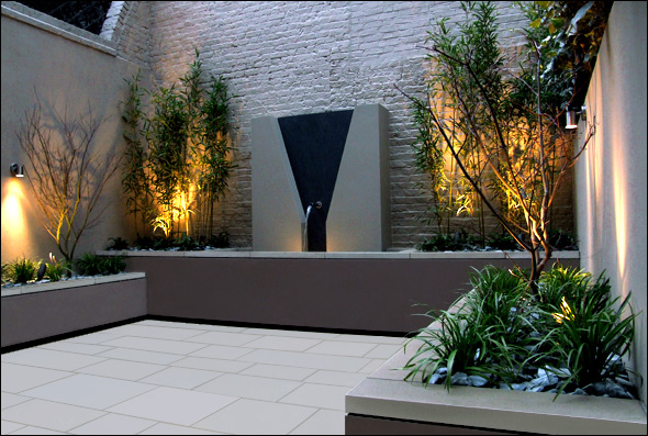 Beautiful roof gardens and landscape designs for Courtyard landscape design
