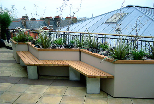 Beautiful roof gardens and landscape designs for Garden design on roof