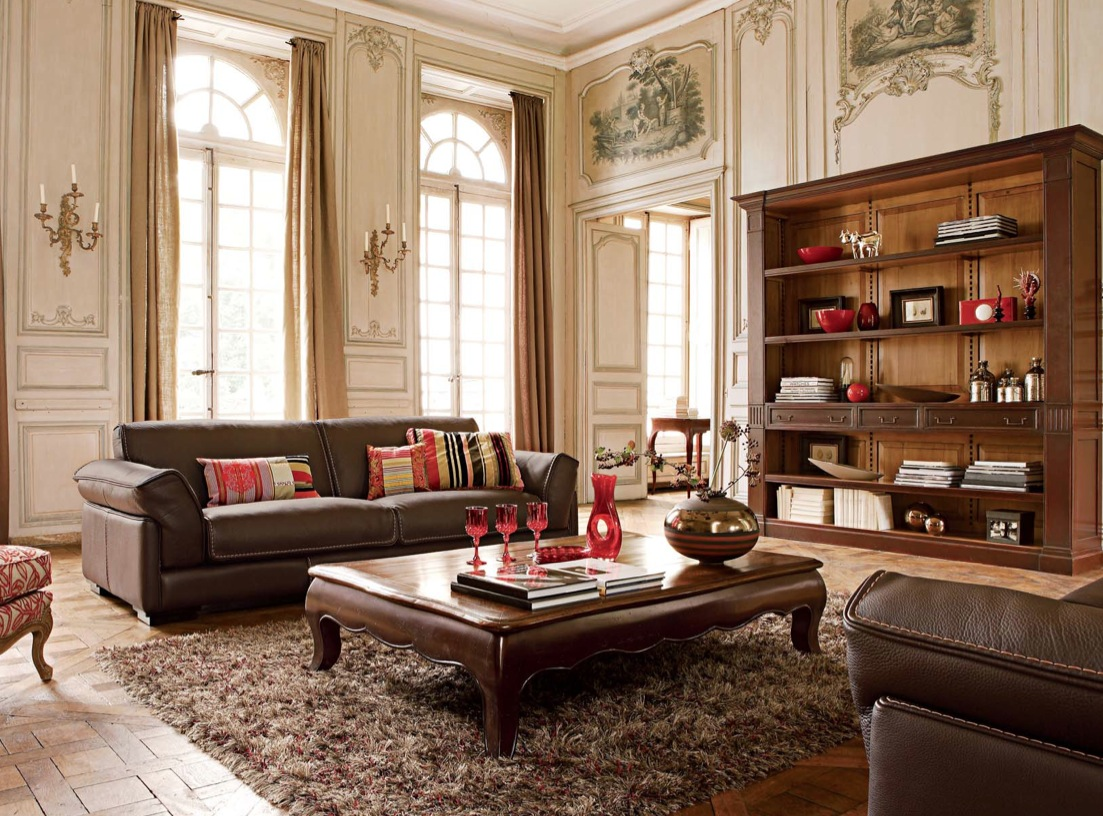 Luxury living rooms ideas inspiration from roche bobois for Luxury classic house