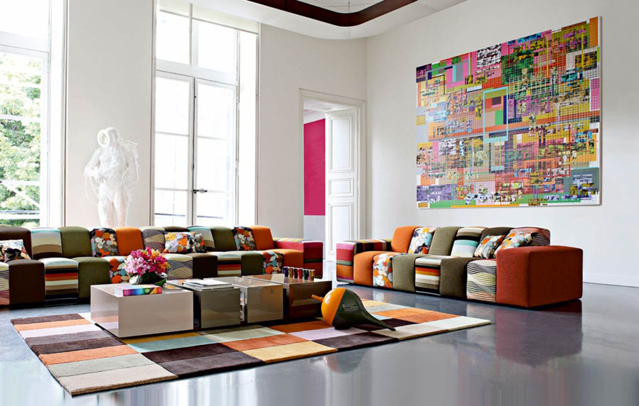 Wonderful Colorful Living Room