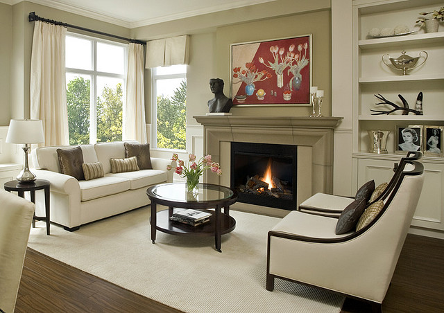 Fireplace mantels and surrounds for Modern traditional living room ideas