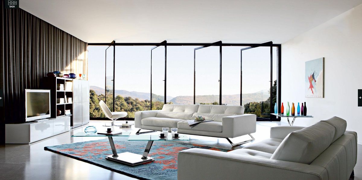 Luxury living rooms ideas inspiration from roche bobois for Tables de salon roche bobois