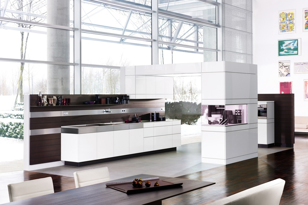 Kitchens from german maker poggenpohl for Open style kitchen cabinets