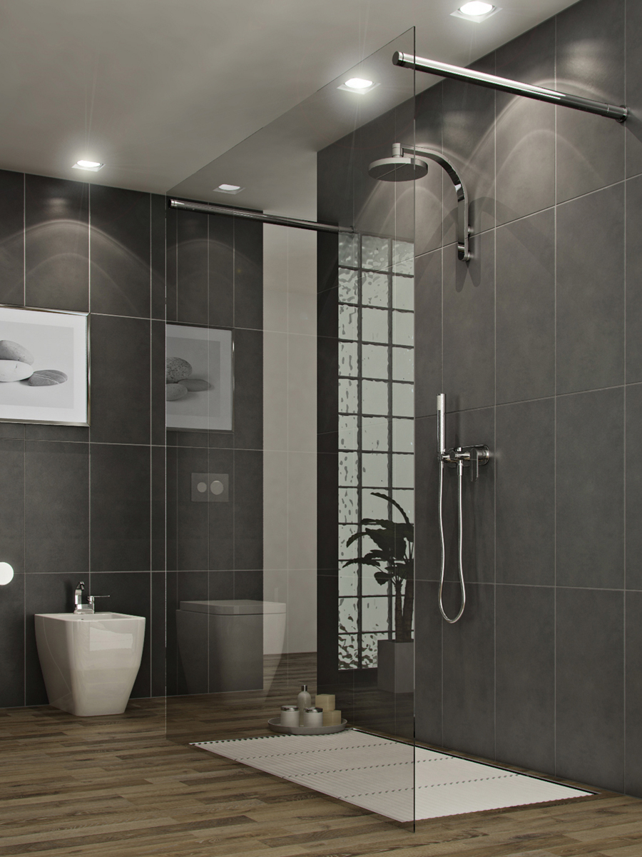 Bathrooms a l 39 abode for Modern bathroom tile designs