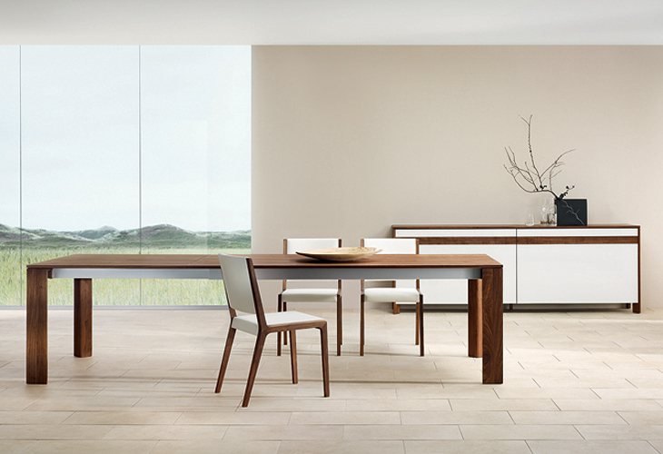 Modern dining room furniture for Long contemporary dining tables