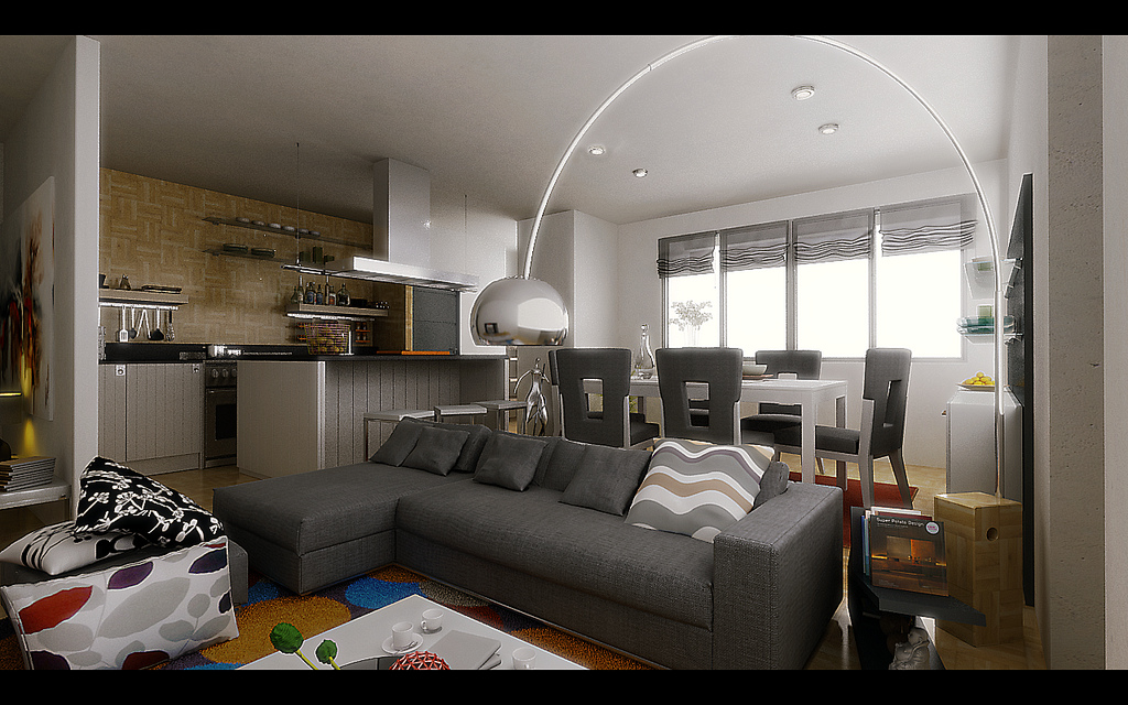 Small Apartment Living Room Design living-cum-dining inspiration