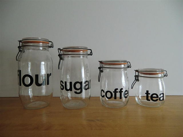 Coffee tea and sugar jar galore
