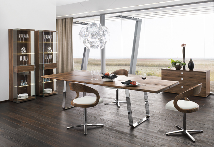 Modern Dining Room Furniture : Modern dining table sustainable natural wood chrome from www.home-designing.com size 730 x 500 jpeg 264kB