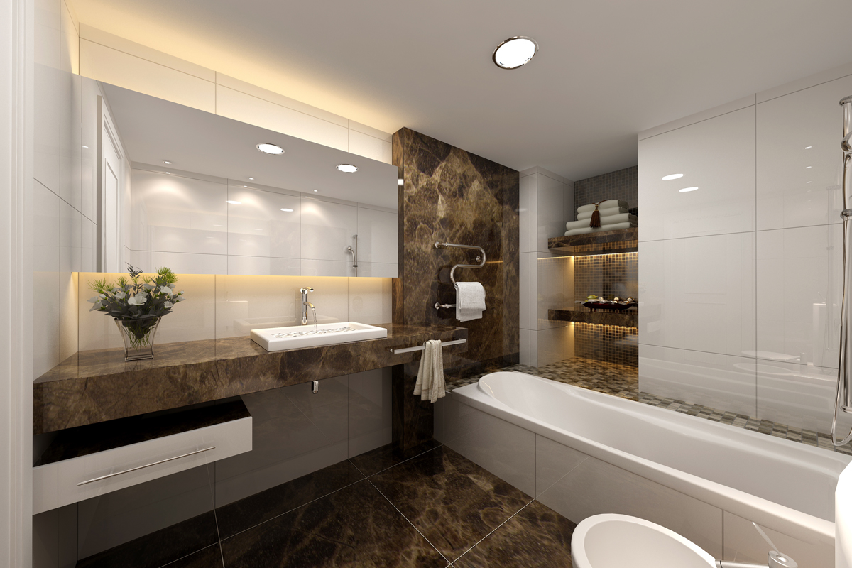 Amazing  materials create a modern look in this bathroom Designed by samsom 1200 x 800 · 519 kB · jpeg