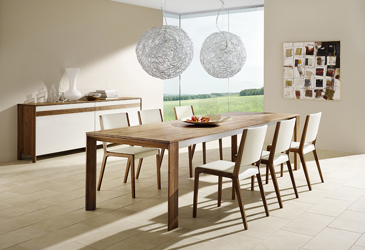 Modern dining room furniture for Modern dining room table decorating ideas