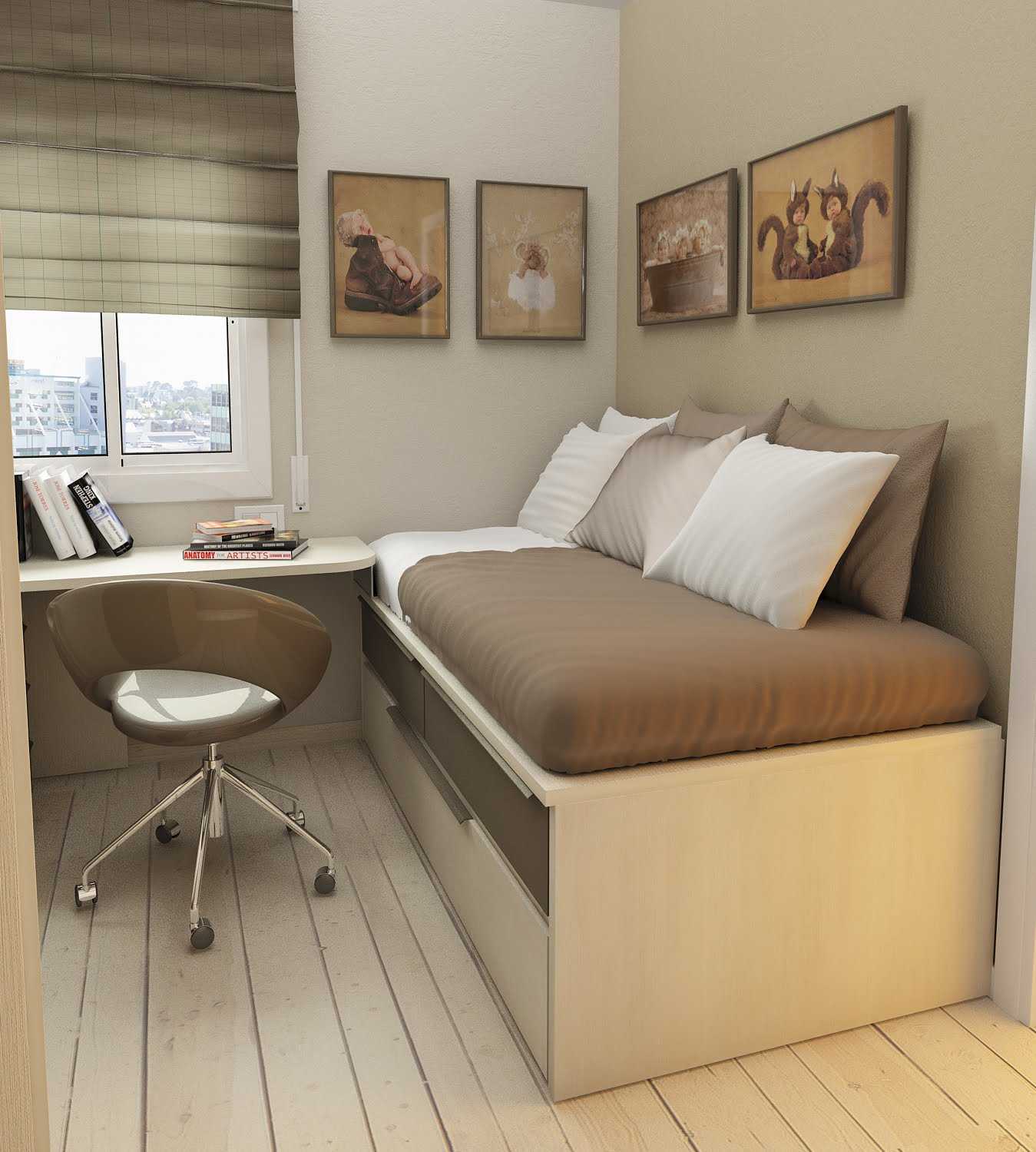 biege study - Bedroom Furniture Small Rooms