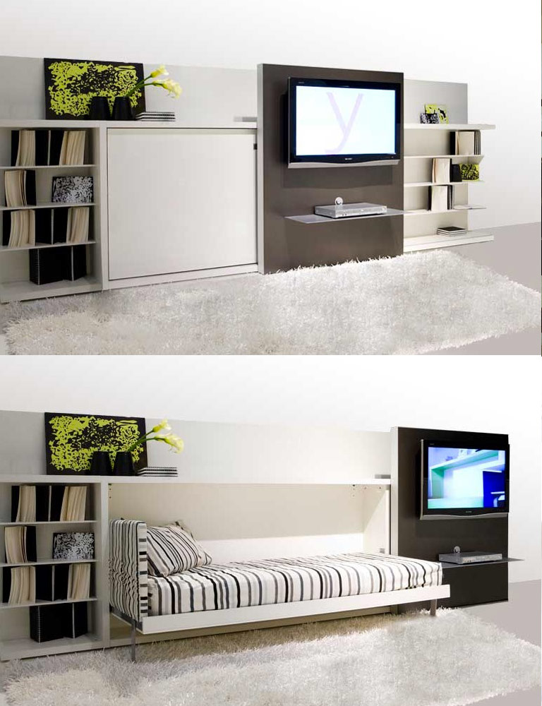 Attractive Space Saving Entertainment System Awesome Design